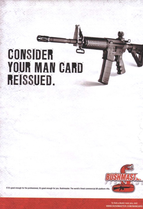 Bushmaster Firearms Ad, from GenderAds