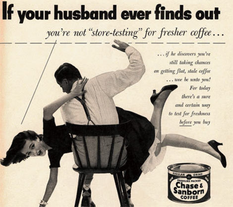 Chase & Sanborn Coffee Ad  in 1952, from Augus Whines