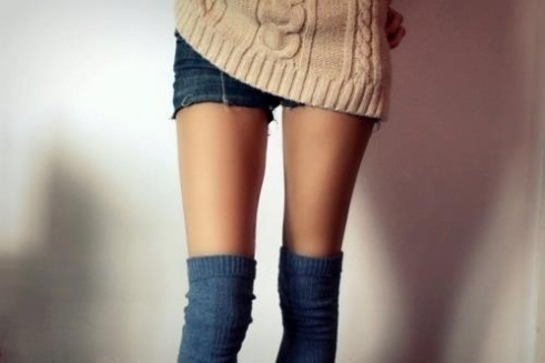Over the knee casual socks from We Heart It